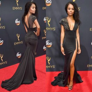 Cat-styled Zuri Hall at the Emmys.