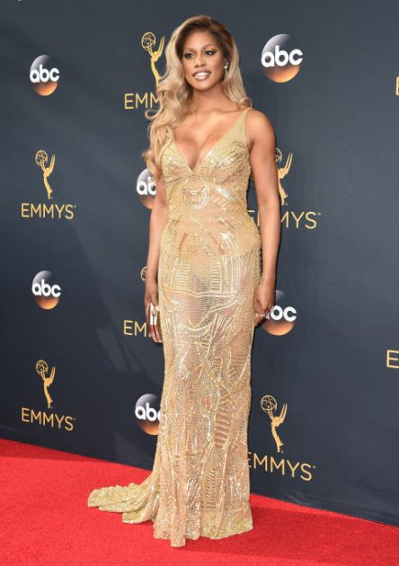 LAVERNE COX In Naeem Khan.