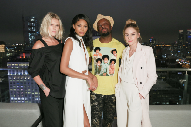 Alexandra Richards, Chanel Iman, Wyclef Jean, and Olivia Palermo took in the views at the grand debut of Renaissance New York Midtown Hotel on Thursday, June 2.
