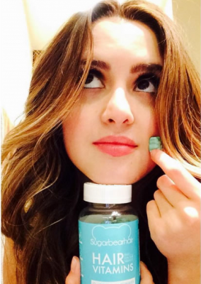 Laura Marano has added Sugar Bear Hair to her daily vitamin regimen.
