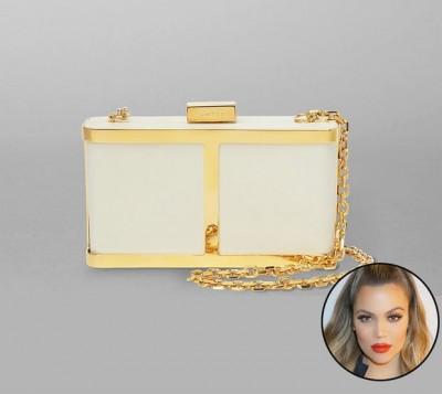 Khloe Kardashian: Maiyet Butterfly Box Clutch, $1,495, maiyet.com.