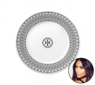 Kim Kardashian: Hermes H Deco Dessert Plate n°1, gray, $85 per dish.