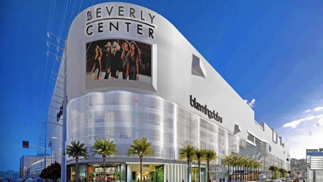 The remodel of the Beverly Center, shown in an artist's rendering, will feature a perforated steel facade that will curve along much of the outside of the mall. (Courtesy of Beverly Center)