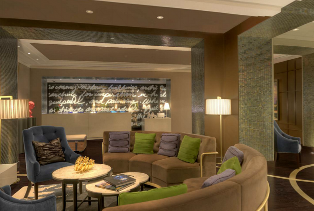 Hotel Palomar lobby.