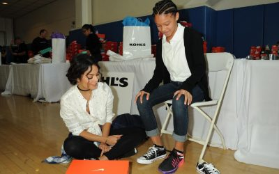 Actress Vanessa Hudgens and Kohls kick off the school year with free shoes for the entire student body at at The Accelerated School on August 17, 2016 in Los Angeles, California.