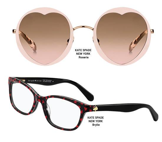07a5e9d9eceb What says 'Happy Valentine's Day' better than heart-shaped glasses? Safilo  has unveiled new Valentine's Day styles from its spring/summer kate spade  new ...