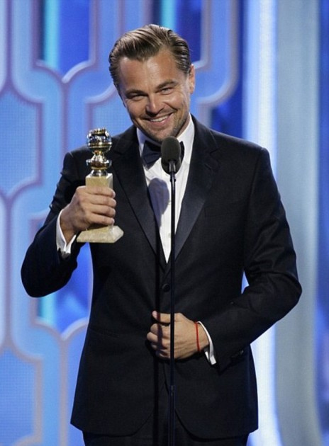 Leo won his third Golden Globe Award earlier this month for his role in The Revenant.