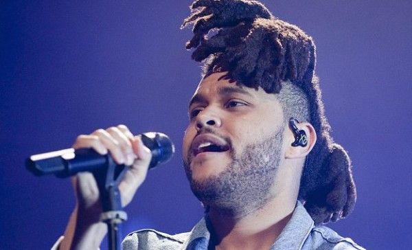 Can't feel his face: The Weeknd will also be performing as he is tied for second with Taylor Swift for second most nominations