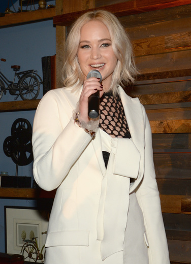Actress Jennifer Lawrence attends Ninth Annual Women In Film Pre-Oscar Cocktail Party at Hyde Sunset Kitchen + Cocktails at Hyde On Sunset .