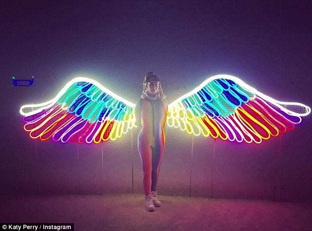 Katy Perry at Burning Man. '👼🏻 luminary fairy 👼🏻