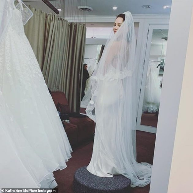Katherine Mcphee Trying On Wedding Gowns Already Daily