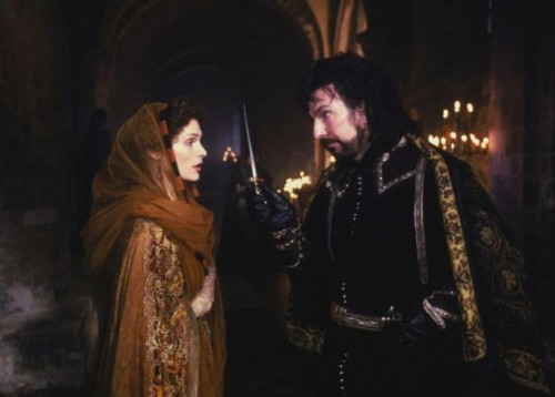 Again cast in role of the villain, as the Sherriff of Nottingham in Robin Hood: Prince of Thieves, Rickman  won a Bafta.