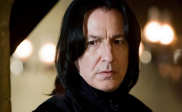 Rickman played the mysterious Professor Snape in all eight Harry Potter films.