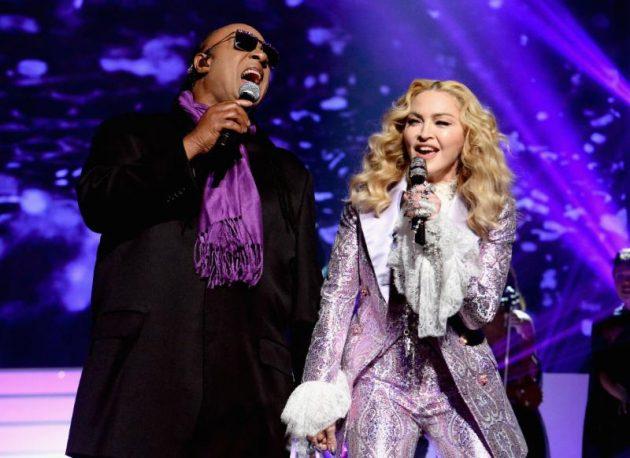 Stevie Wonder and Madonna.
