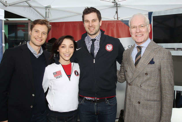 Gold medalist ice skating duo Meryl Davis and Charlie White, Paralympic swimmer and Gold medalist Jessica Long, Fencing Silver medalist Tim Morehouse and Project Runway alum Tim Gunn.