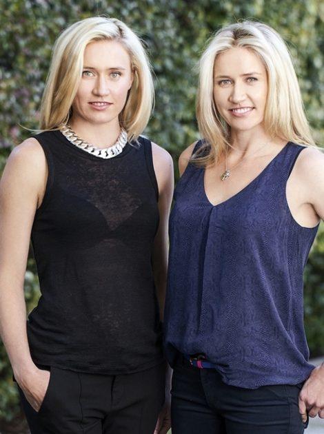 Founding twin sisters Kim and Zoe Roebuck.