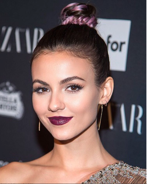 CELEB SIGHTING: Victoria Justice arrives at the Harper's Bazaar Celebrates ICONS Party at New York Fashion Week with hair styled by Joico celebrity hairstylist, Paul Norton.