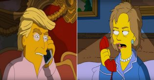 The-Simpsons-Characters-Homer-and-Marge-Discuss-Hillary-Clinton-and-Donald-Trump-in-3-A.M.-Clip