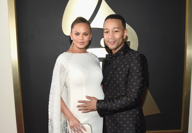 LOS ANGELES, CA - FEBRUARY 15:  Model Chrissy Teigen (L) and singer John Legend attend The 58th GRAMMY Awards at Staples Center on February 15, 2016 in Los Angeles, California.  (Photo by Larry Busacca/Getty Images for NARAS)