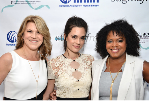Torrey DeVitto, Tiffani Carter and Katrina Gay at the Philosophy and NAMI #stigmafree luncheon.