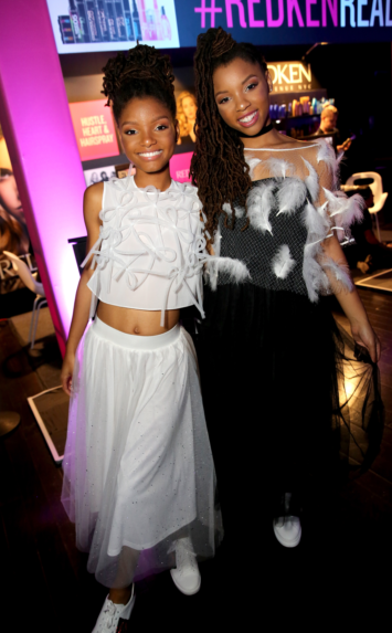 Chloe X Halle perform at the 5th Annual NYX FACE Awards in Los Angeles, California.