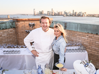 Lo Bosworth and Altamarea Group's Chef Michael White stopped by Gin Mare's Med Rooftop event in New York City on June 9 to celebrate the gin's US launch.