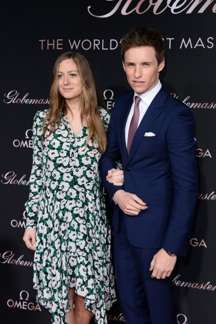 Eddie Redmayne at Omega event with pregnant wife Hannah.