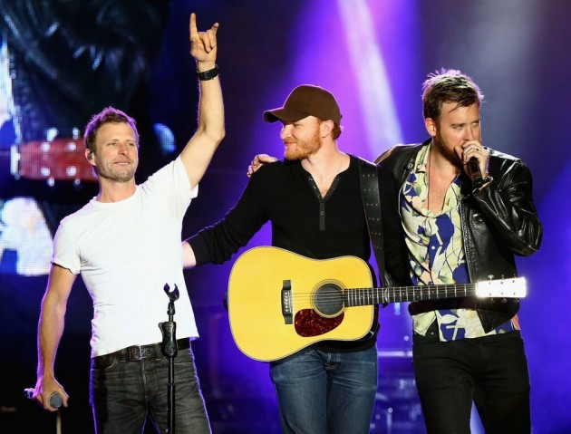 Dierks Bentley Eric Paslay and Charles Kelley .